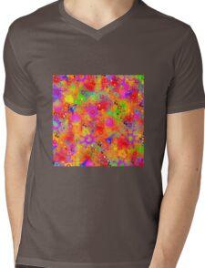 Color Splash Graffiti Mens V-Neck T-Shirt