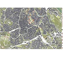 Vienna map engraving Photographic Print