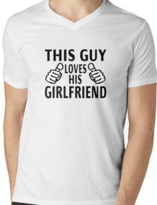 This Guy Loves His Girlfriend Mens V-Neck T-Shirt