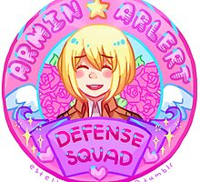 Armin Arlert Defense Squad Merch by marburusu