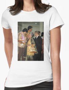church congregants Womens Fitted T-Shirt