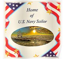 """Home of U.S. Navy Sailor"" Poster"