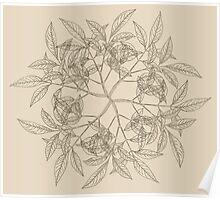 Vintage Wreath Pattern Poster