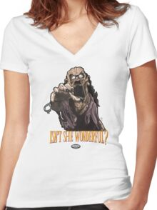 Pit Witch Women's Fitted V-Neck T-Shirt