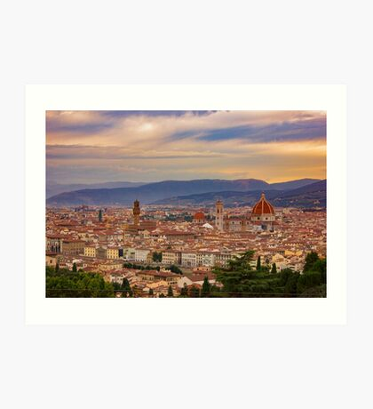 Sunset over Florence Art Print
