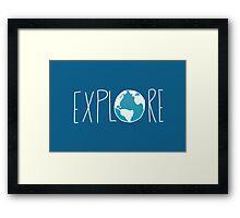 Explore the Globe II Framed Print