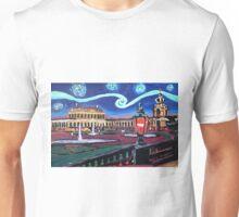 Starry nights in Dresden mit Zwinger - Van Gogh inspiriert Unisex T-Shirt