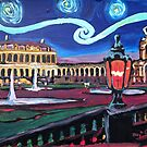 Starry nights in Dresden mit Zwinger - Van Gogh inspiriert by artshop77