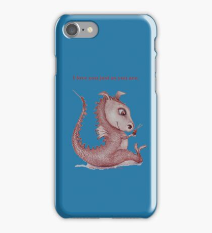 Red Dragon 'I love you just as you are'  iPhone Case/Skin