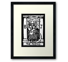 The Priestess  - Tarot Cards - Major Arcana Framed Print