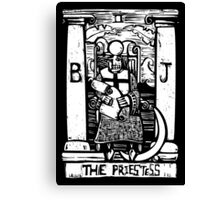 The Priestess  - Tarot Cards - Major Arcana Canvas Print