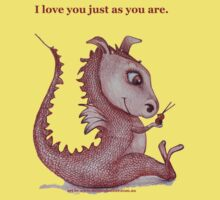 Red Dragon 'I love you just as you are'  One Piece - Short Sleeve