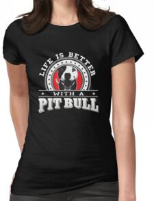 Pit Bull lovers Womens Fitted T-Shirt