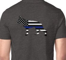 German Shepherd: Thin Blue Line Unisex T-Shirt