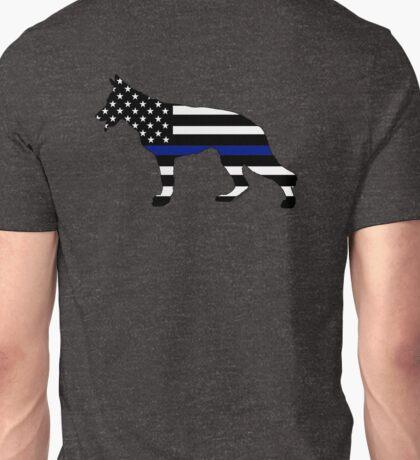 German Shepherd: Thin Blue Line Unisex T-Shirt