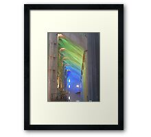 Coloured Light Streaming into Sagrada Família Framed Print