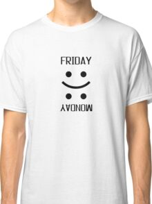Friday Monday Weekend Smiley Face Emoji Funny Classic T-Shirt