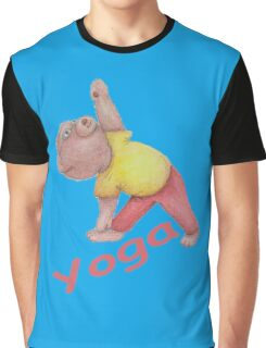 Flexible Yoga Bear in triangle pose Graphic T-Shirt
