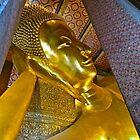 """Reclining Buddha"" Wat Pho,  Bangkok, Thailand by AlexandraZloto"