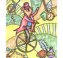 Mouse on Penny Farthing Photographic Print
