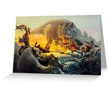 Cadillac & Dinosaurs Greeting Card