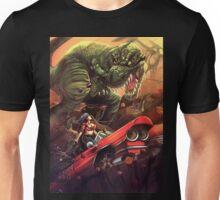 Cadillac Girl vs T-Rex Unisex T-Shirt