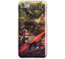 Cadillac Girl vs T-Rex iPhone Case/Skin