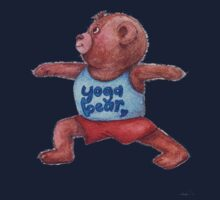 Warrior Yoga Bear  Kids Tee