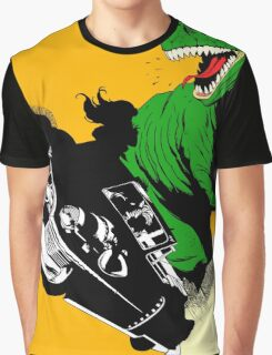 T-Rex Driving Graphic T-Shirt