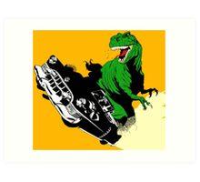 T-Rex Driving Art Print