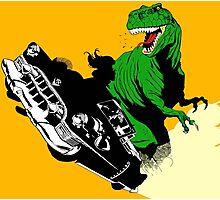 T-Rex Driving Photographic Print