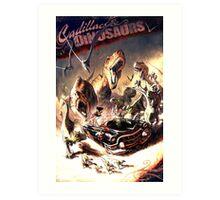Apocaliptic Dinosaurs Art Print