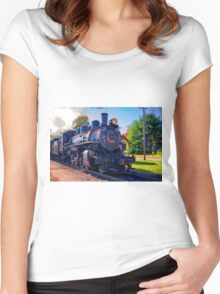 Chugging Along Women's Fitted Scoop T-Shirt