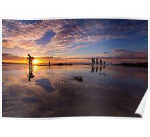 Snapper Rocks Sunset Poster