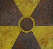 Radioactive Fallout Symbol - Vault Shelter Geek Gamer Sticker