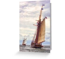 Trailing The Whaler Greeting Card