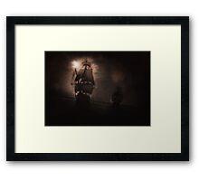 Dark Ocean Passage Framed Print