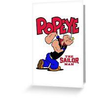 Popeye The Sailor Man Greeting Card
