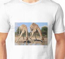 Giraffe - African Wildlife Background - Splitting for Sips Unisex T-Shirt