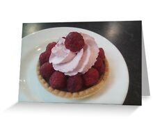 Raspberry and chocolate tart Greeting Card