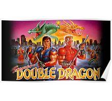 Double Dragon Retro Poster
