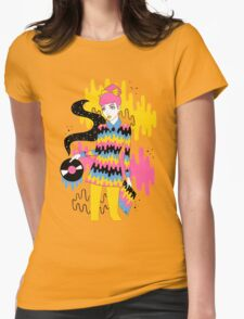 Vinyl Womens Fitted T-Shirt