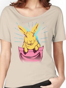 bunny rabbit in your pocket pet shirt Women's Relaxed Fit T-Shirt