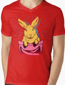 bunny rabbit in your pocket pet shirt Mens V-Neck T-Shirt