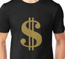 Gold Dollar Sign Unisex T-Shirt