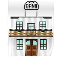 Wild West pixel Bank Poster