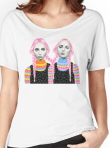Plaited Twins Women's Relaxed Fit T-Shirt