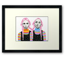 Plaited Twins Framed Print