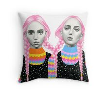 Plaited Twins Throw Pillow