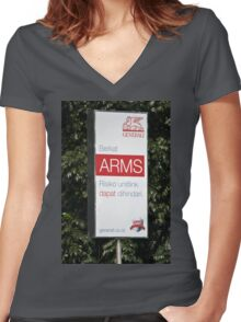 generali insurance banner Women's Fitted V-Neck T-Shirt